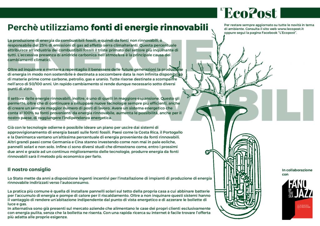 Abstrac L'EcoPost Energie Rinnovabili