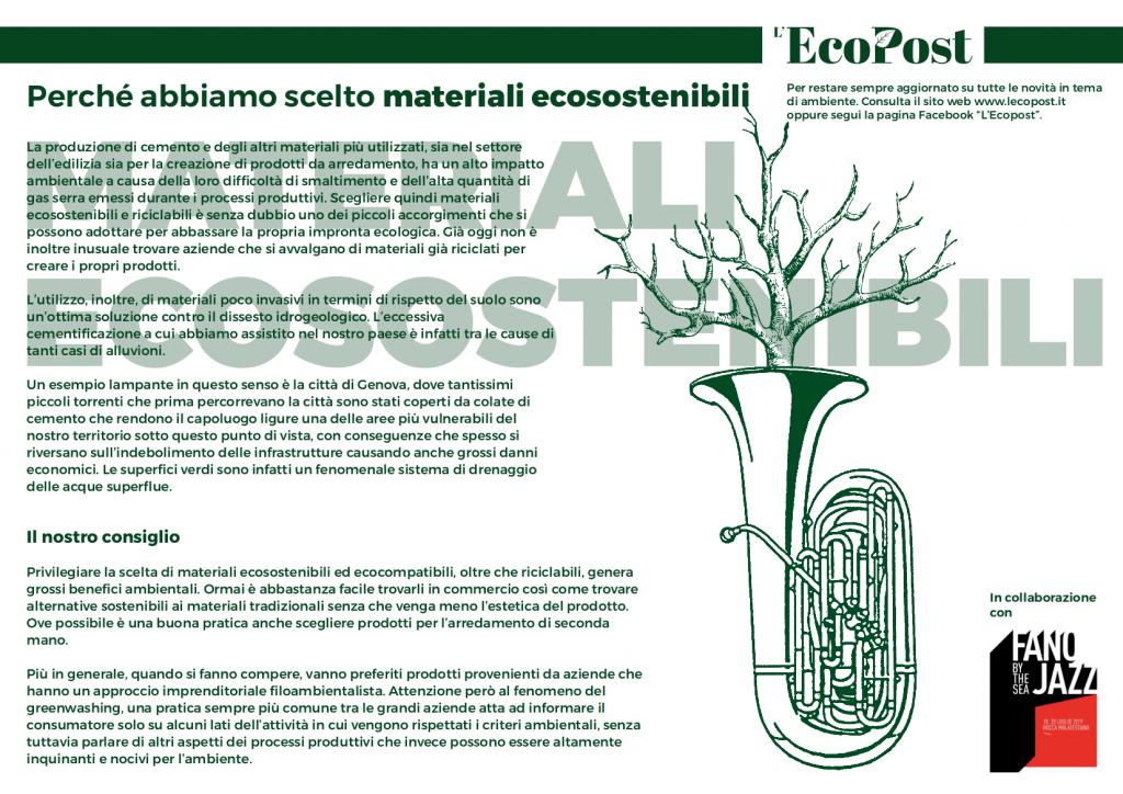 Abstrac L'EcoPost Materiali Ecosostenibili