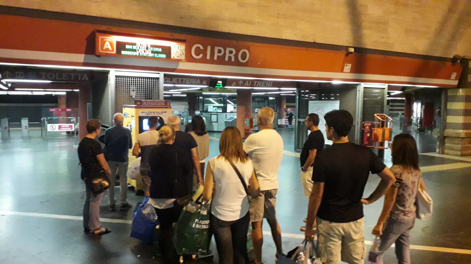 A Roma la Metro è gratis. Grazie alla plastica