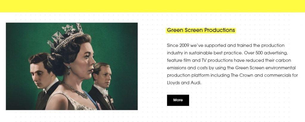 impatto ambientale del cinema